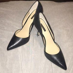 Black Leather BCBGeneration High Heels